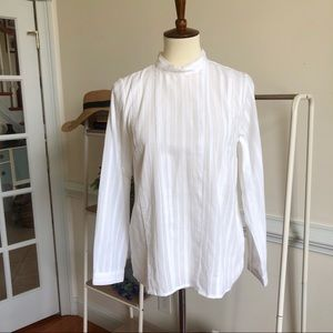 ModCloth white peasant high neck top